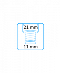 Syljen imupääte 11 mm yläaukko ilman letkuliitintä 3