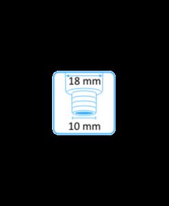 Syljen imupääte 11mm yläaukko ja Dürr-letkuliitin 10mm letkuun 3