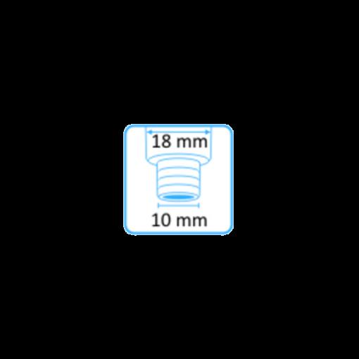 Syljen imupääte 11mm yläaukko ja Dürr-letkuliitin 10mm letkuun 2