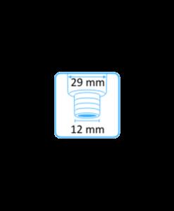 Syljen imupääte 11mm yläaukko ja Heka Dentalin letkuliitin 12mm letkuun 3