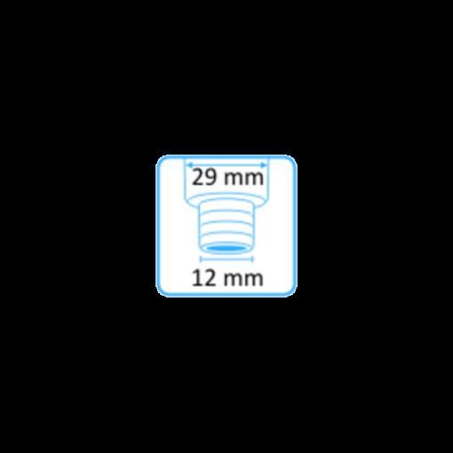 Syljen imupääte 11mm yläaukko ja Heka Dentalin letkuliitin 12mm letkuun 2