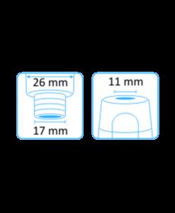 Tehoimupääte 11mm yläaukko ilman letkuliitintää 3