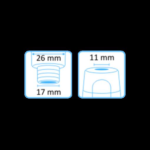 Tehoimupääte 11mm yläaukko ilman letkuliitintää 2