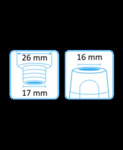 Tehoimupääte 16mm yläaukko ilman letkuliitintää 3